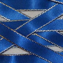 Berisfords Silver Edge Satin Ribbon (8603)