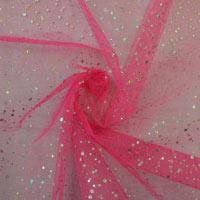 Hologram Spot Dress Net Fabric