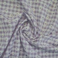 Gingham Print Fabric
