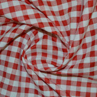 Gingham Fabric (Cotton Rich)