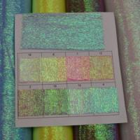 Iridescent Rainbow Crinkled Organza Fabric