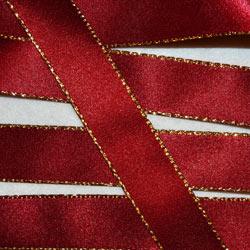 Berisfords Gold Edge Satin Ribbon (7696)