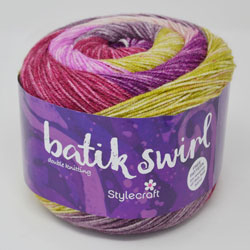 Batik Swirl Double Knit Wool