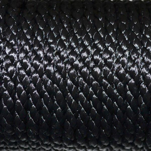 6mm Black Rayon Cord Close