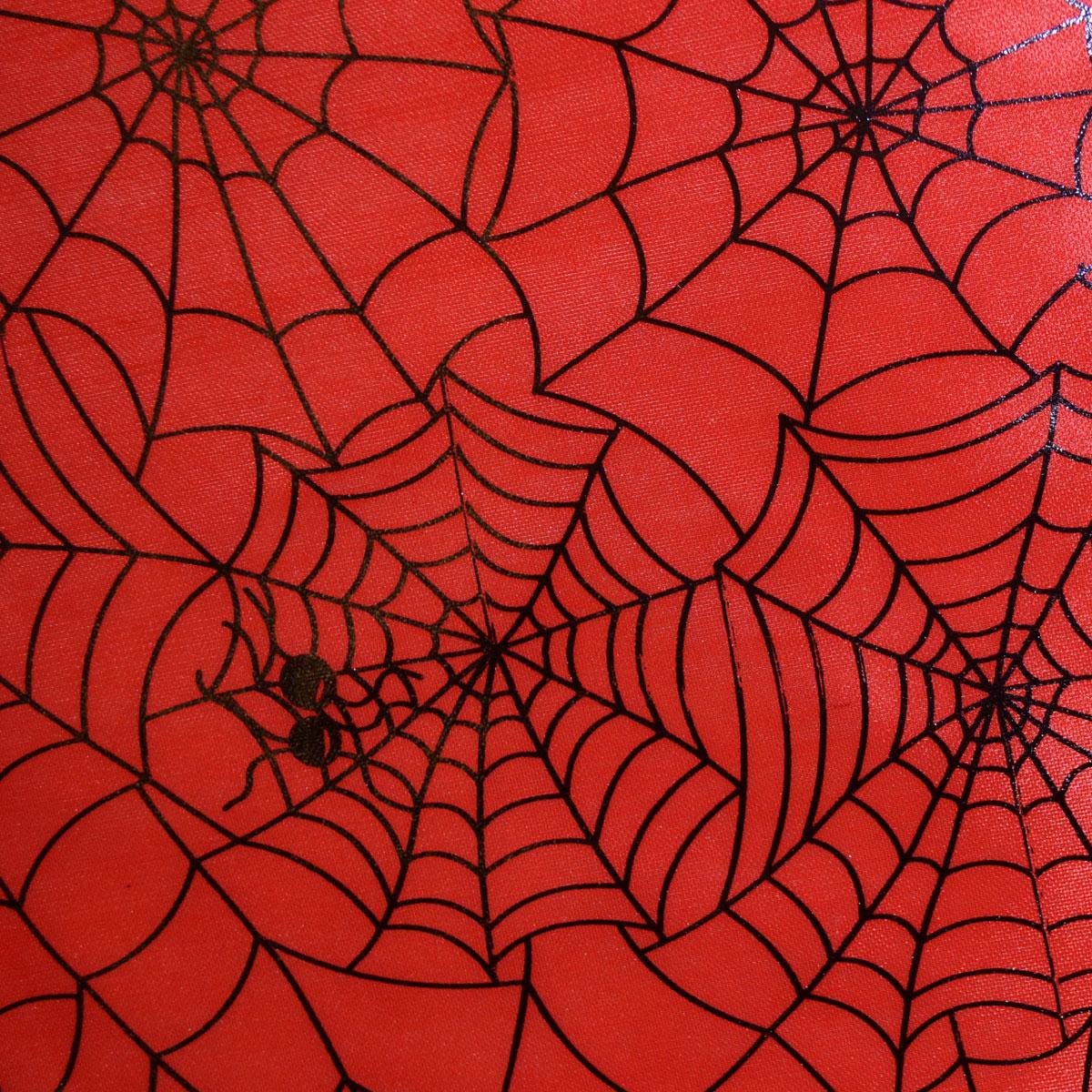 Fabric quilt silver metallic spider webs on black 1//4 yard Halloween