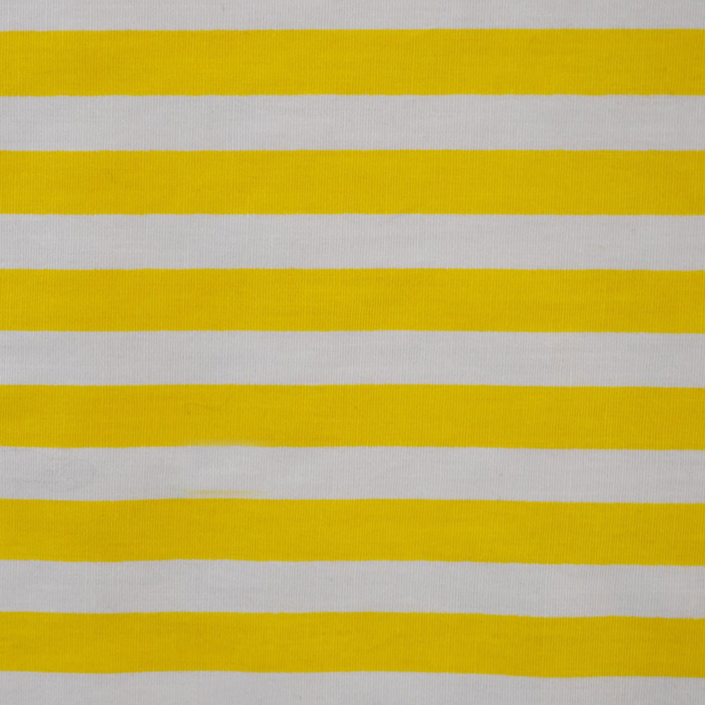 Yellow And White Stripe Fabric Cp0080